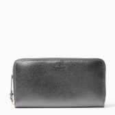 pwru5249 cameron street metallic lacey zip around wallet