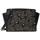 30h7glmm6i md leather studded messenger crossbody bag