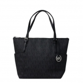 jet set logo east west top-zip tote