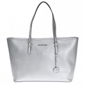 30t5mtvt2m jet set travel medium metallic saffiano leather tote