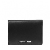 jet set travel medium leather card holder