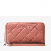 jet set travel large quilted-leather smartphone wristlet