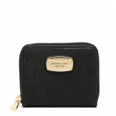 jet set zip around bifold wallet 35s2gjsf1j black jacquard.