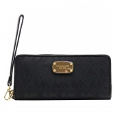 35h5gtte3j travel continental zip around wallet black