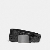 12026 wide plaque cut-to-size reversible signature crossgrain leather belt