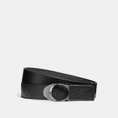 12027 wide sculpted c pebble leather belt