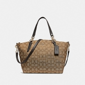 27582 small kelsey satchel in signature jacquard