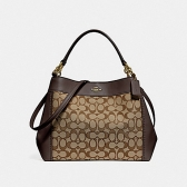 29548 small lexy shoulder bag in signature jacquard