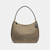 29959 zip shoulder bag in signature jacquard