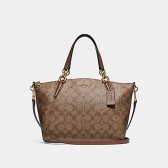 28989 small kelsey satchel in signature canvas