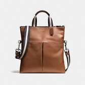 54759 smooth leather charles foldover tote