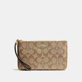 58695 large wristlet in signature