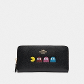 73397 accordion zip wallet with pac-man animation