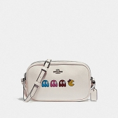 75599 crossbody pouch with ms. pac-man animation