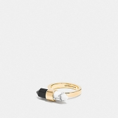 90682 two tone amulet ring