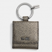 63162 metallic leather picture frame key ring