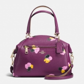 37159 floral print leather prairie satchel