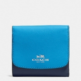 53779 colorblock crossgrain leather small wallet