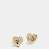 54490 turnlock heart stud earring