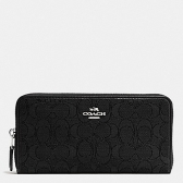 54633 outline signature accordion zip wallet