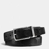 55158 modern harness cut-to-size reversible signature leather belt