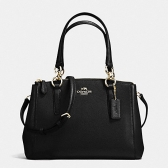 57523 crossgrain leather mini christie carryall