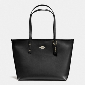 58846 city zip tote in crossgrain leather