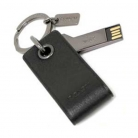 64143 leather 4gb usb key ring
