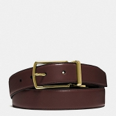 64824 smooth leather modern harness cut-to-size reversible belt