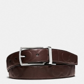 64827 signature leather modern harness cut-to-size reversible belt