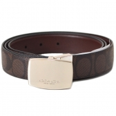 64828 signature c dress plaque cut-to-size reversible belt