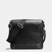 72220 signature crossgrain leather charles small messenger