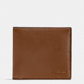 75084 calf leather double billfold wallet