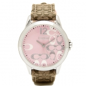 14501621 classic signature strap pink dial watch