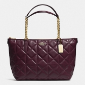 36661 ava chain tote in quilted leather