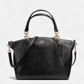 36675-svbk pebble leather small kelsey satchel