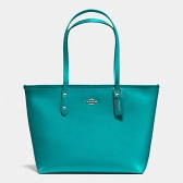 36875 crossgrain leather city zip tote