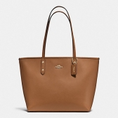 37785 crossgrain leather city zip tote