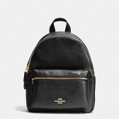 38263 mini charlie pebble leather backpack