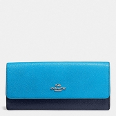 coach 53652-svf94 soft wallet in colorblock leather