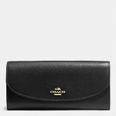 54009 crossgrain leather slim envelope wallet