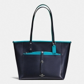 55469 crossgrain leather city tote with pouch