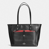 56682 sienna rose print canvas city tote with pouch