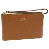 58032 crossgrain leather corner zip wristlet