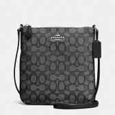 58421 outline signature jacquard north/south crossbody