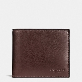 74991 sport calf leather compact id wallet