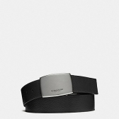 64842 wide plaque cut-to-size reversible pebble leather belt