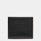 12021 double billfold wallet in buffalo embossed leather