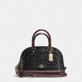 55450-imc1a mini sierra satchel in signature debossed patent leather