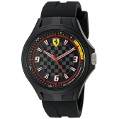 ferrari 830278 pit crew analog display quartz black watch